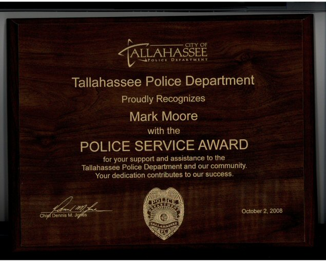 dr mark moore - Tallahassee Police Citizens Award